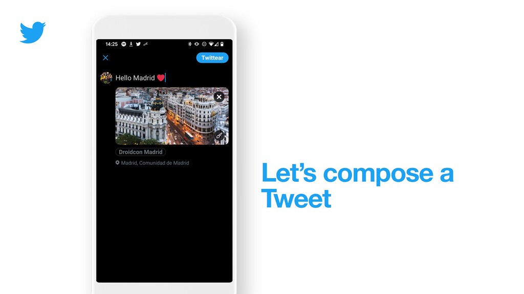 Let's compose a Tweet