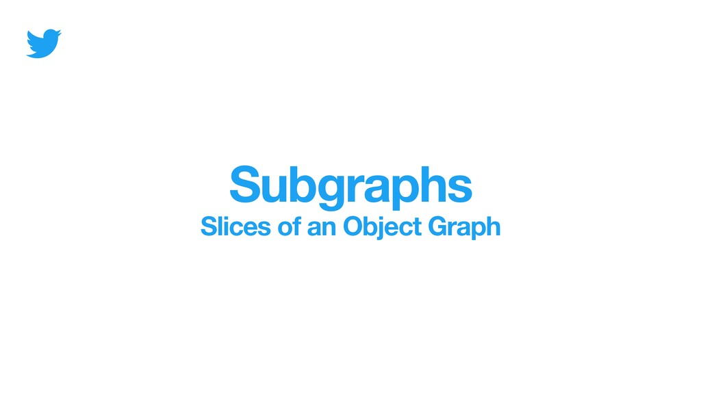 Subgraphs Slices of an Object Graph