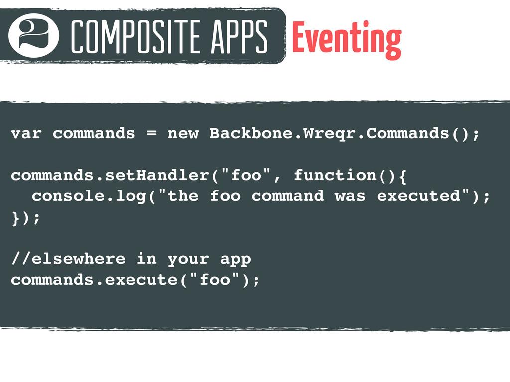 Composite Apps 2 Eventing var commands = new Ba...