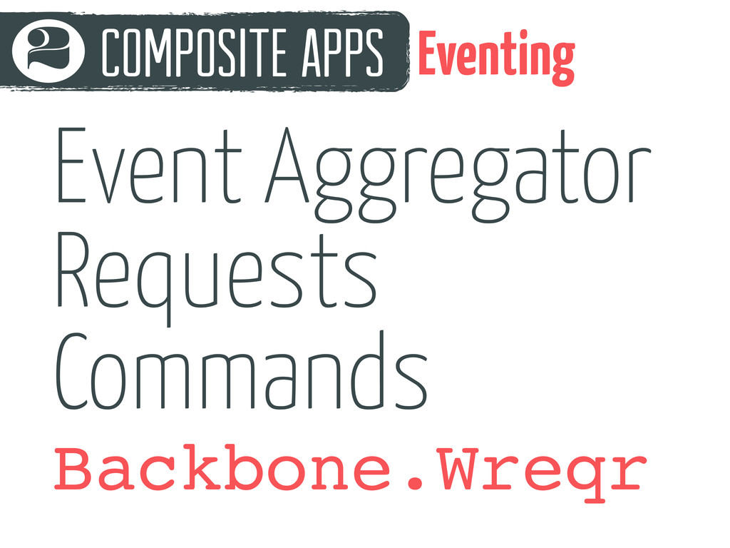 Composite Apps 2 Eventing Backbone.Wreqr Event ...