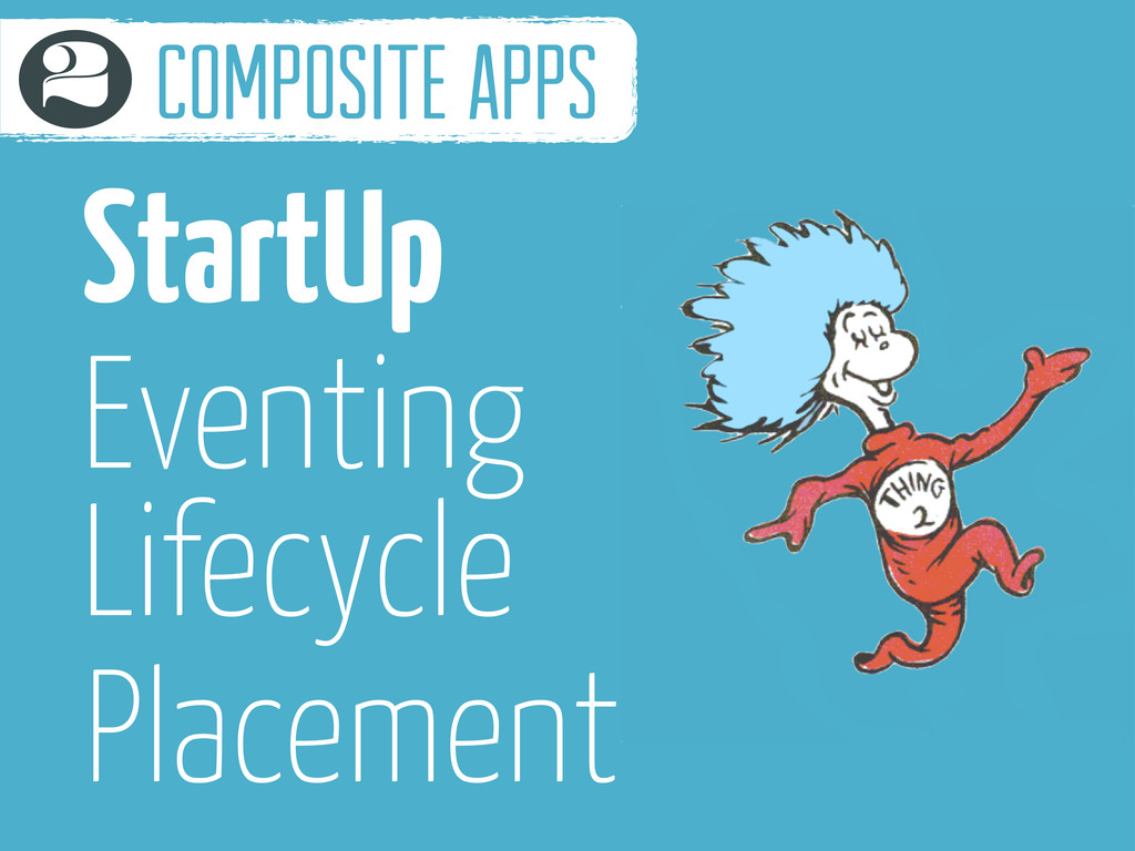 StartUp Eventing Lifecycle composite apps 2 Pla...