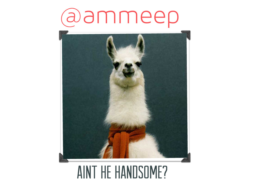 @ammeep aint he handsome?