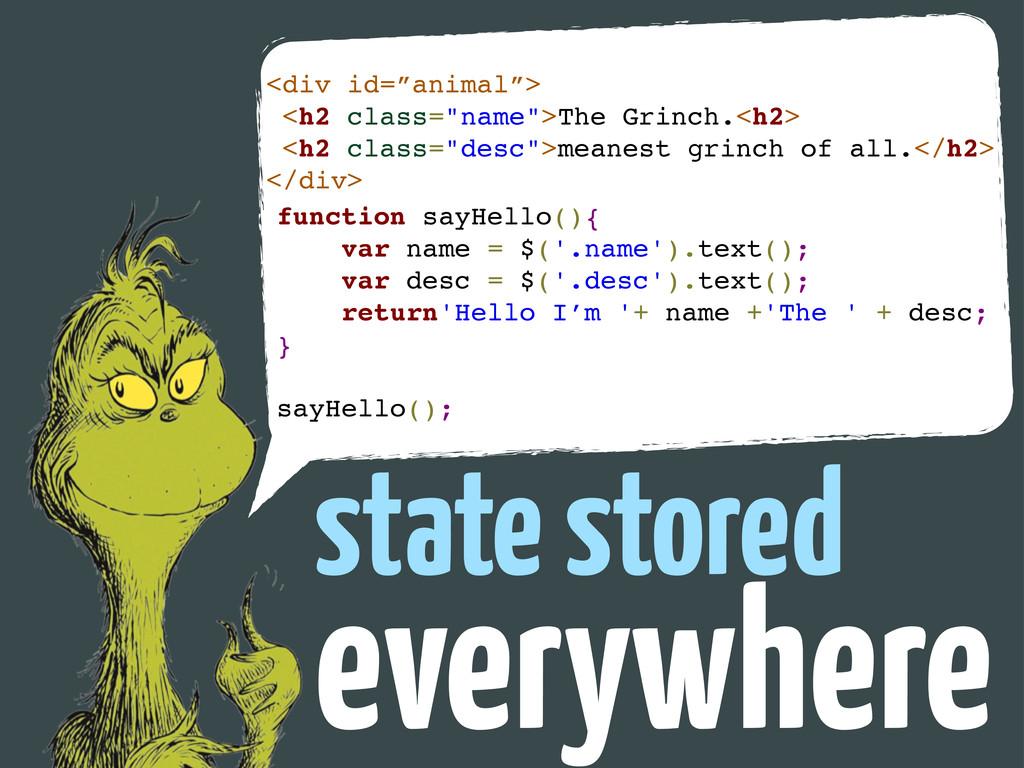 "everywhere state stored <div id=""animal""> <h2 c..."