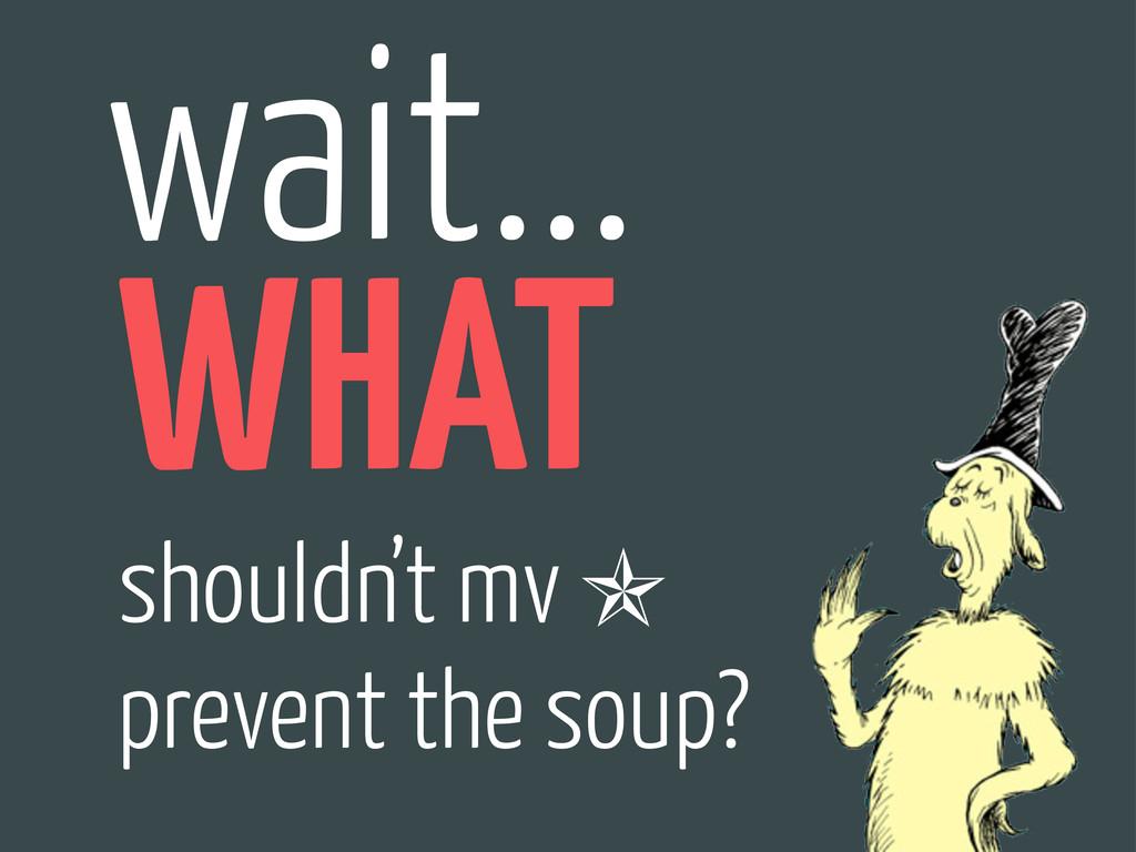wait... shouldn't mv prevent the soup? ✯ WHAT