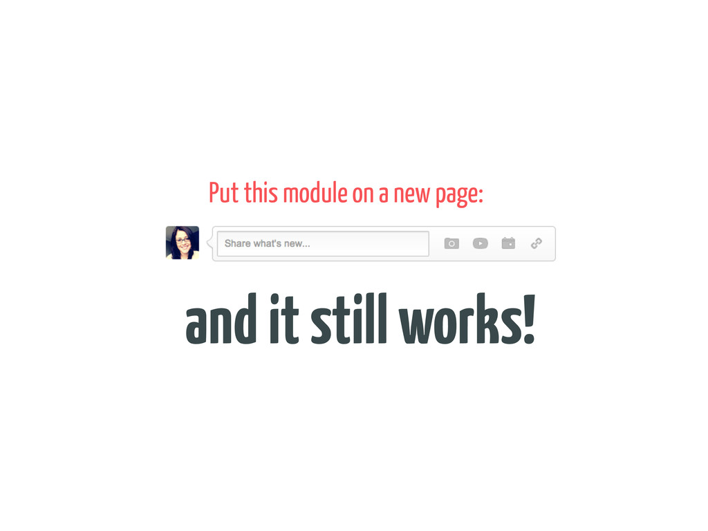 Put this module on a new page: and it still wor...