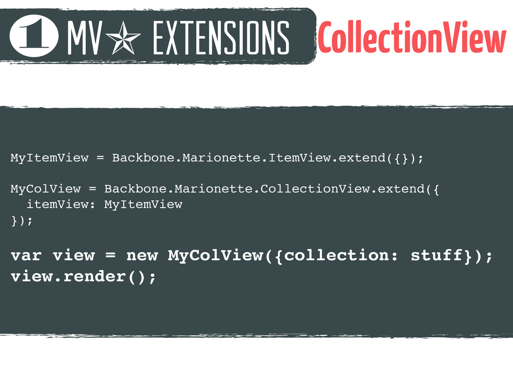 mv✯ extensions 1 CollectionView MyItemView = Ba...