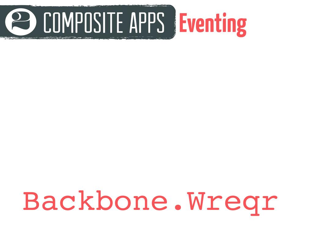 Composite Apps 2 Eventing Backbone.Wreqr