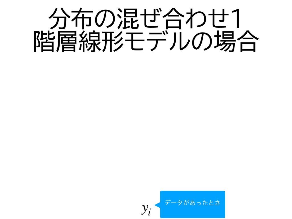yi σʔλ͕͋ͬͨͱ͞ 分布の混ぜ合わせ1   階層線形モデルの場合