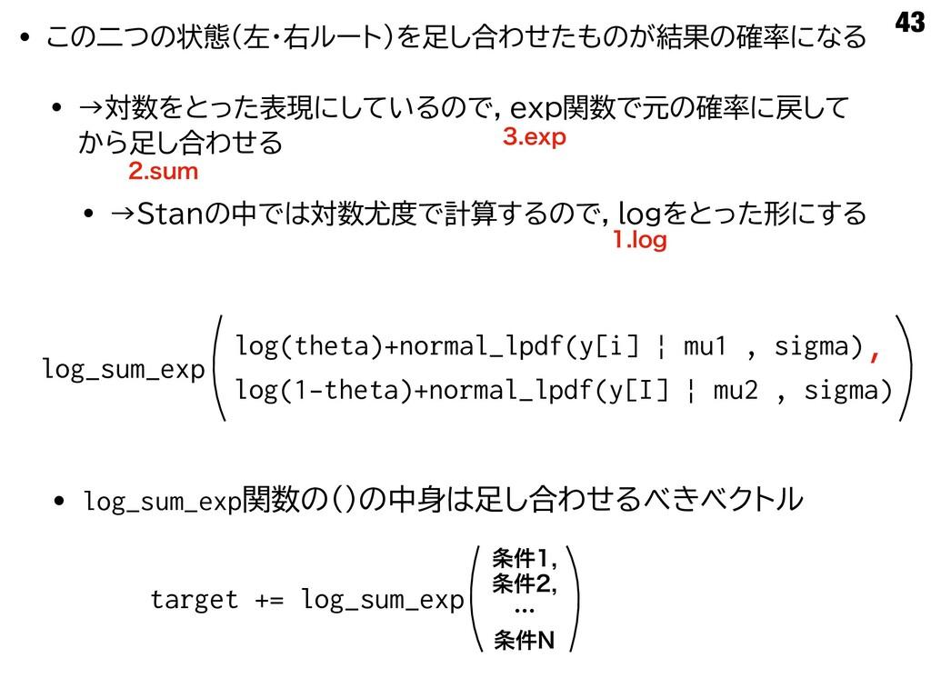 43 log(theta)+normal_lpdf(y[i]   mu1 , sigma) l...