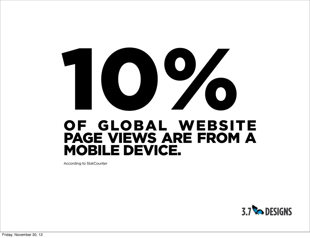 10% OF GLOBAL WEBSITE PAGE VIEWS ARE FROM A MOB...