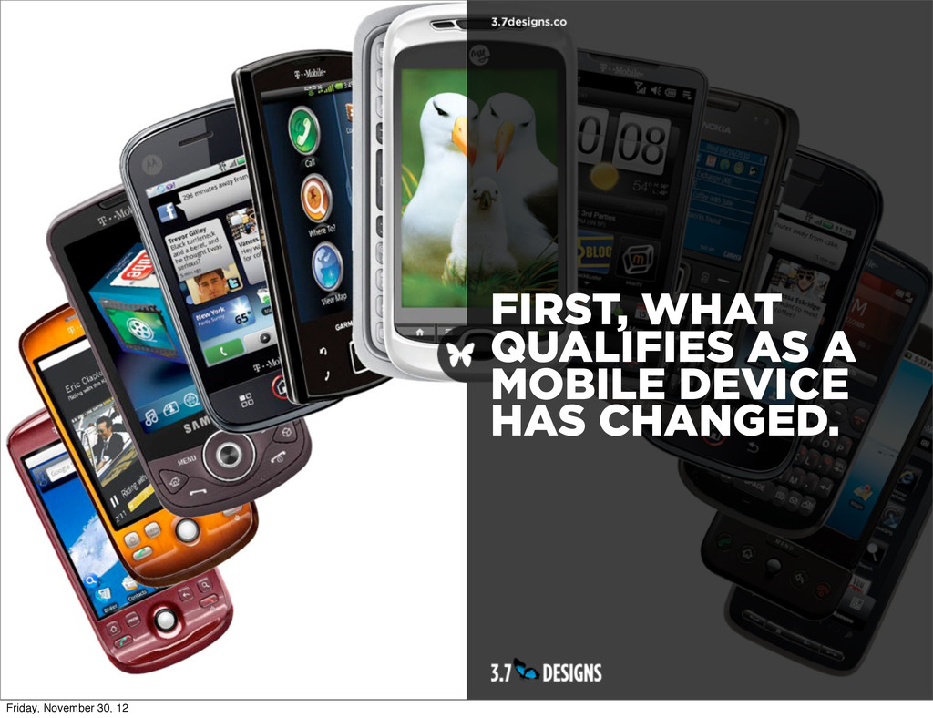 FIRST, WHAT QUALIFIES AS A MOBILE DEVICE HAS CH...