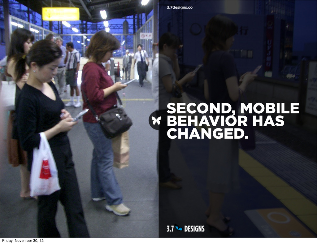 SECOND, MOBILE BEHAVIOR HAS CHANGED. Friday, No...