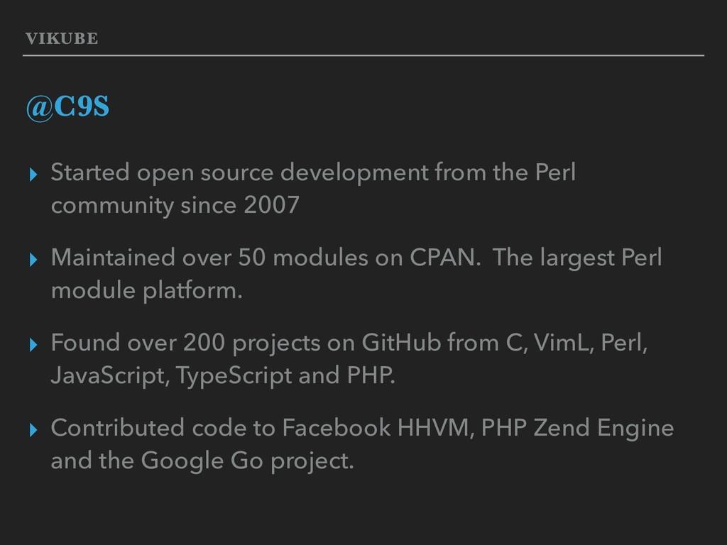 VIKUBE @C9S ▸ Started open source development f...