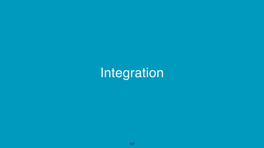 Integration 120