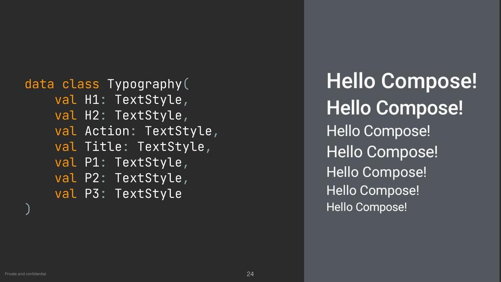 Private and con fi dential 24 data class Typogr...