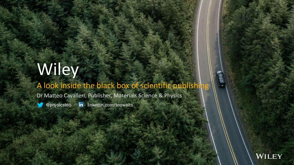 Wiley A look inside the black box of scientific...