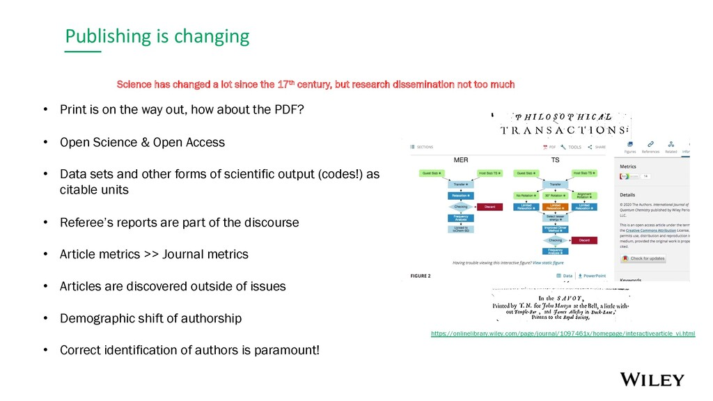 Publishing is changing Science has changed a lo...