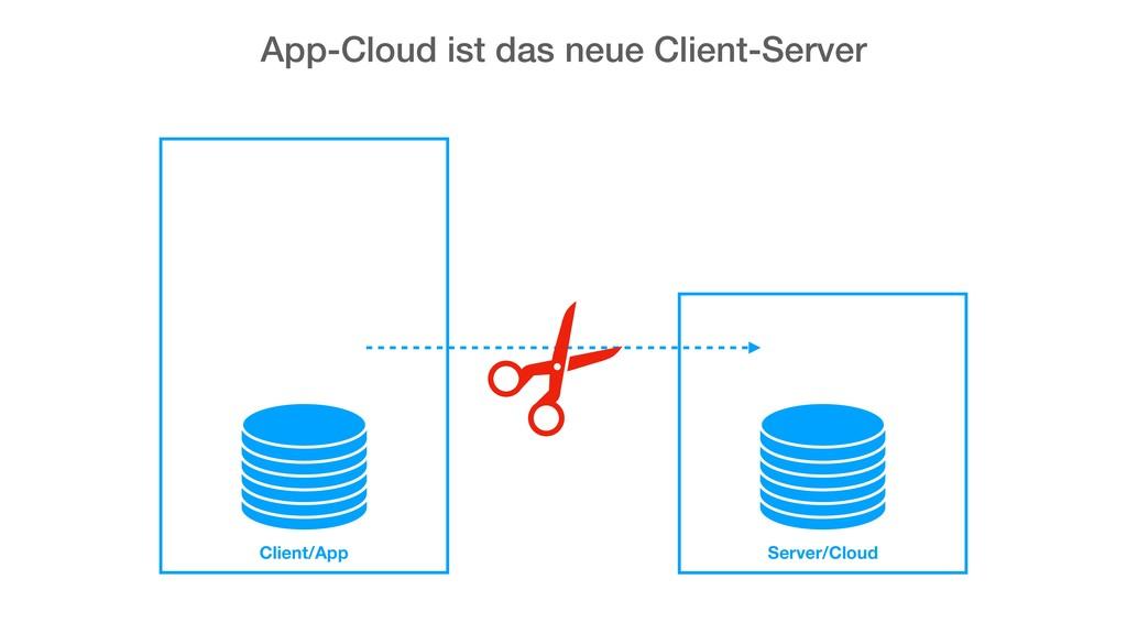 App-Cloud ist das neue Client-Server Client/App...