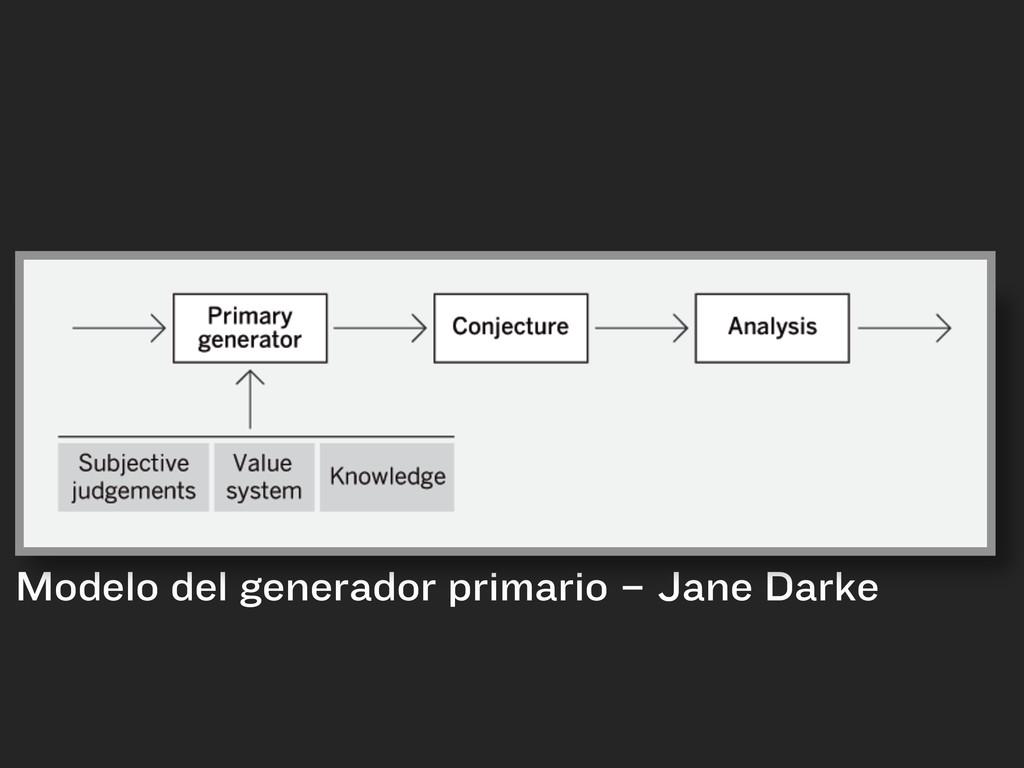 Modelo del generador primario – Jane Darke