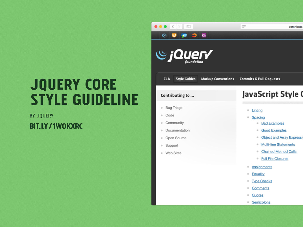 jQuery Core Style Guideline by jQuery bit.ly/1w...