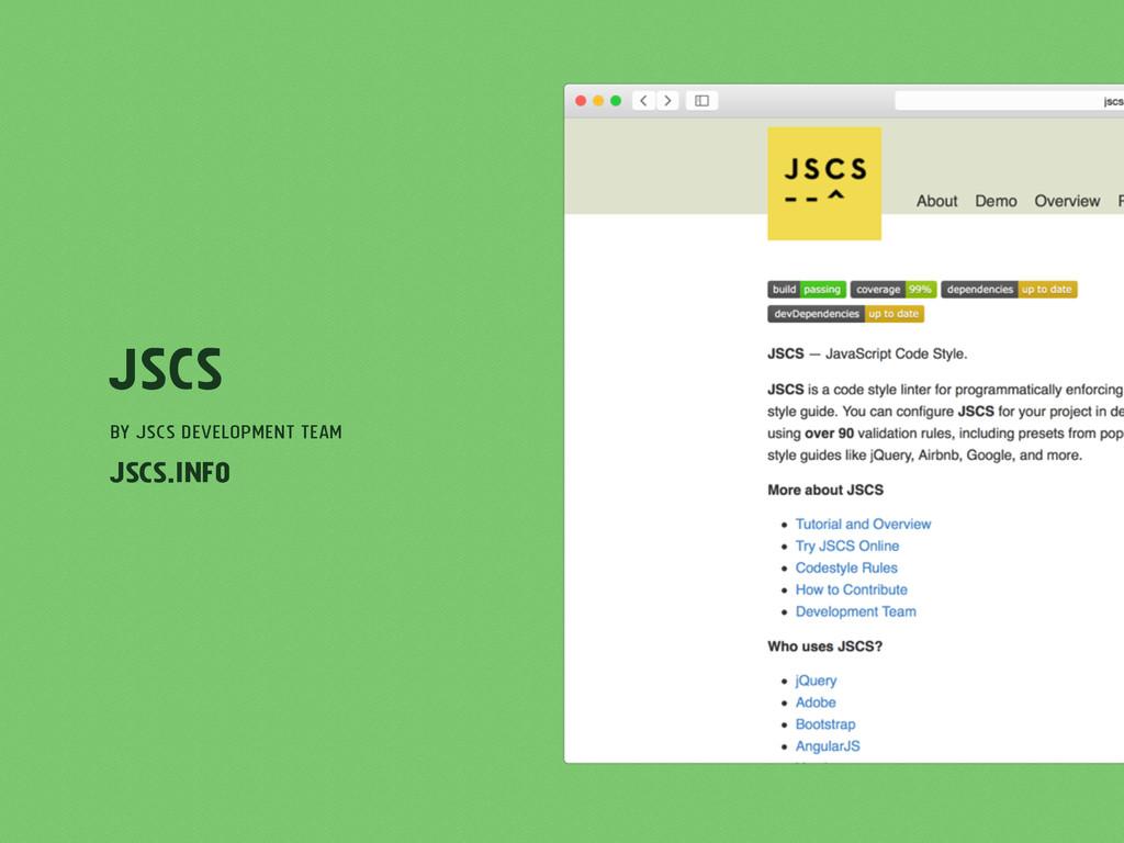 JSCS by JSCS Development Team jscs.info