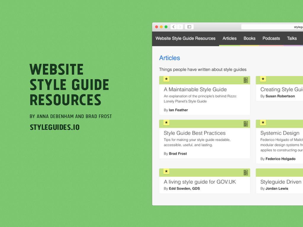 Website Style Guide Resources by Anna Debenham ...