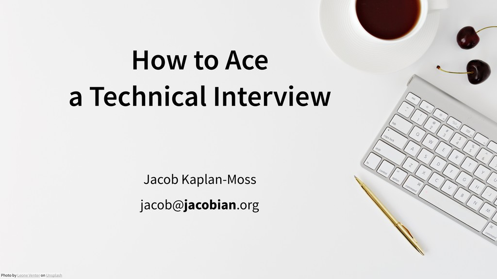 How to Ace 