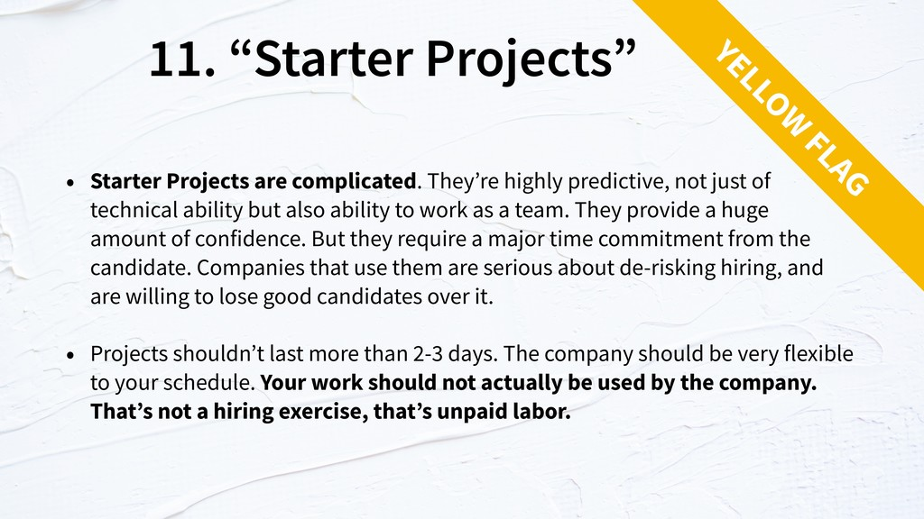 "11. ""Starter Projects"" • Starter Projects are c..."
