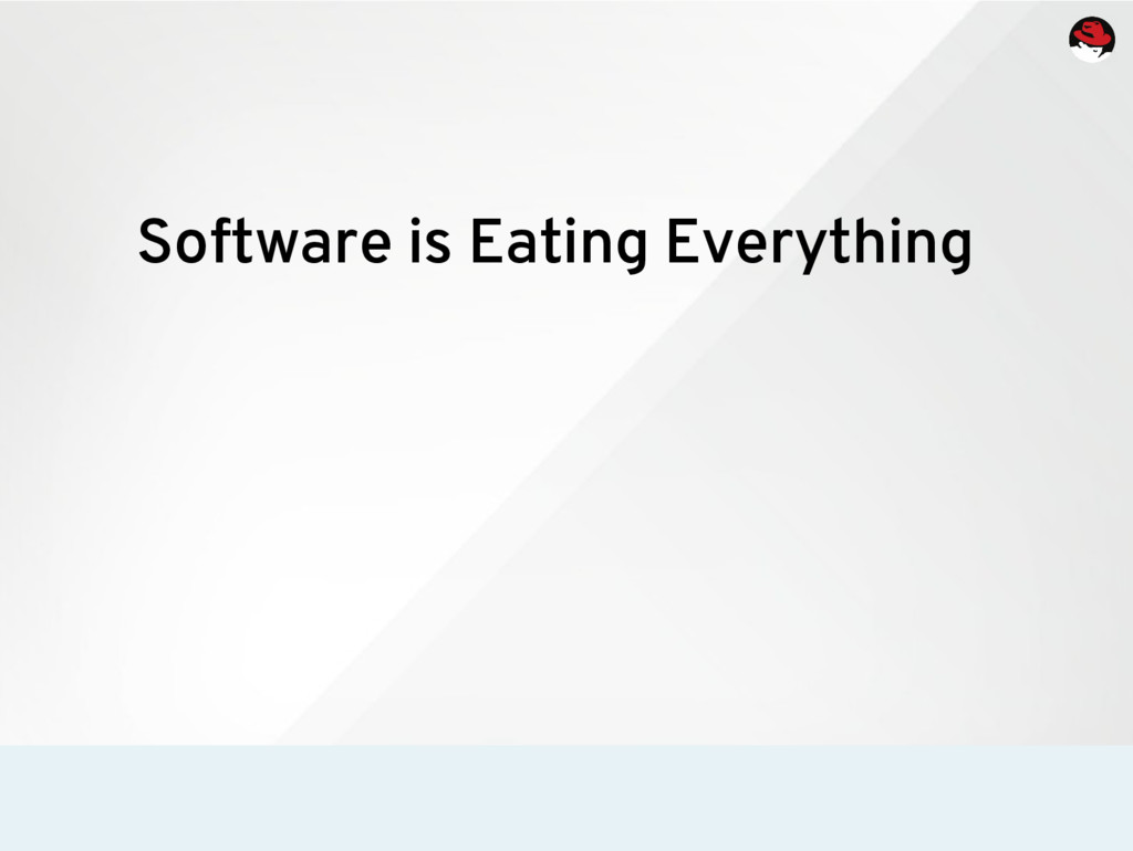 Software is Eating Everything
