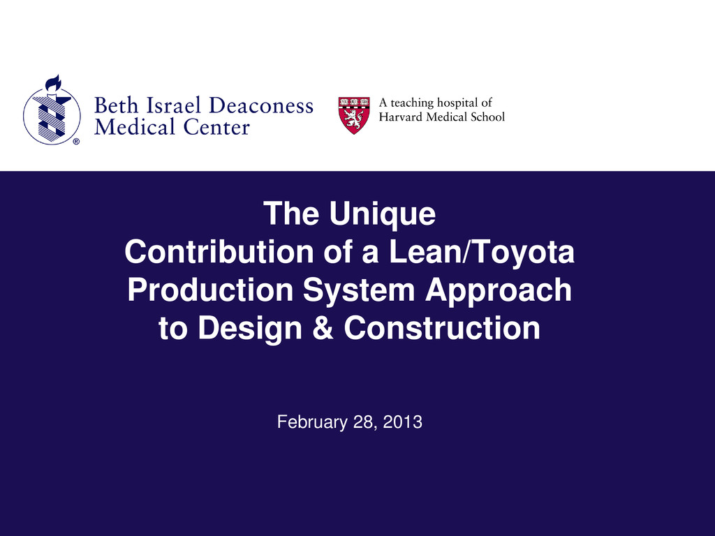 The Unique Contribution of a Lean/Toyota Produc...