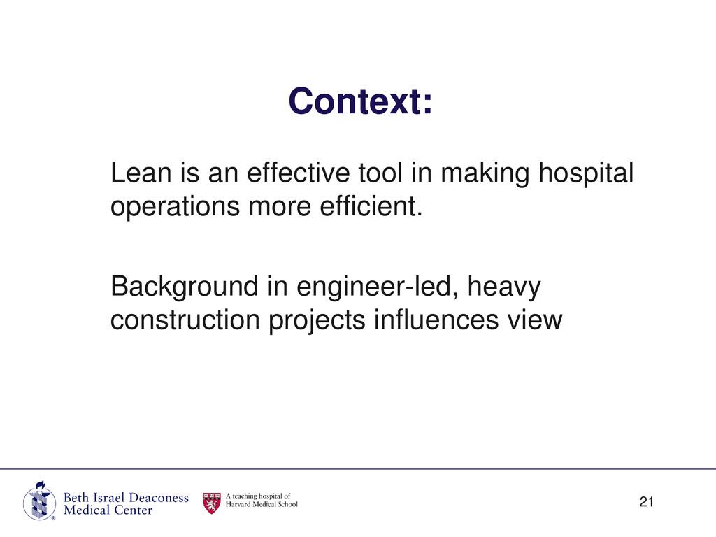Lean is an effective tool in making hospital op...