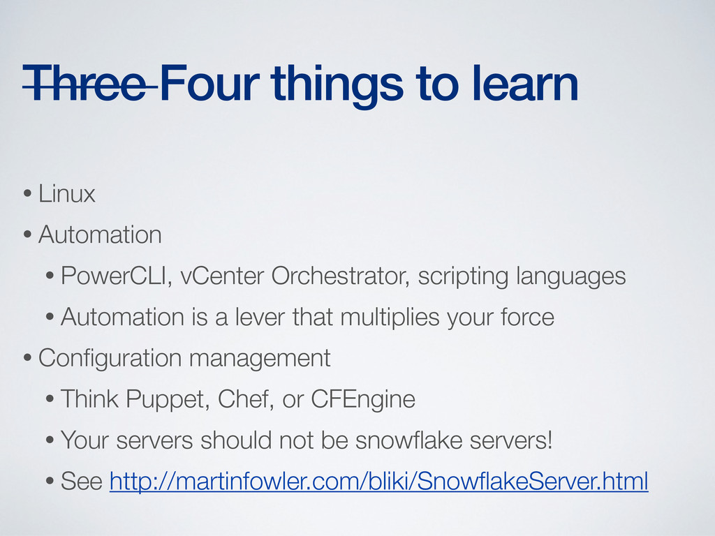 • Linux • Automation • PowerCLI, vCenter Orches...