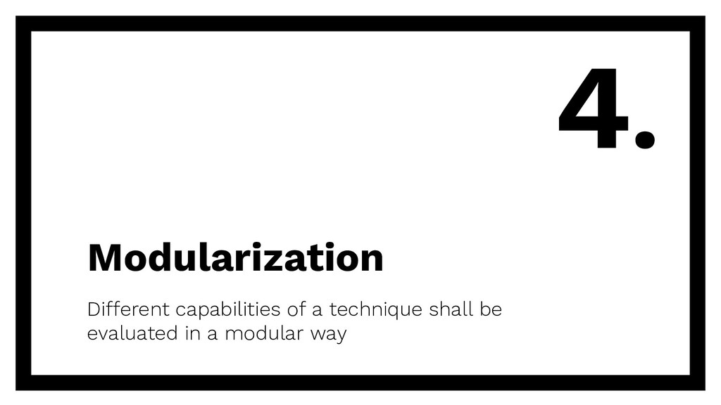 Modularization Different capabilities of a tech...