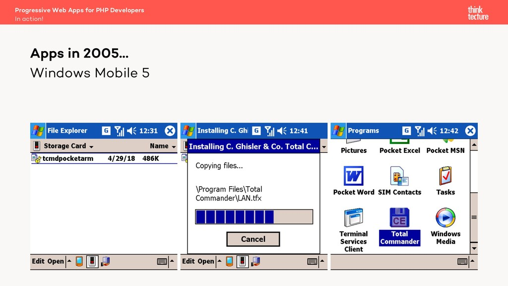 Windows Mobile 5 Apps in 2005… In action! Progr...