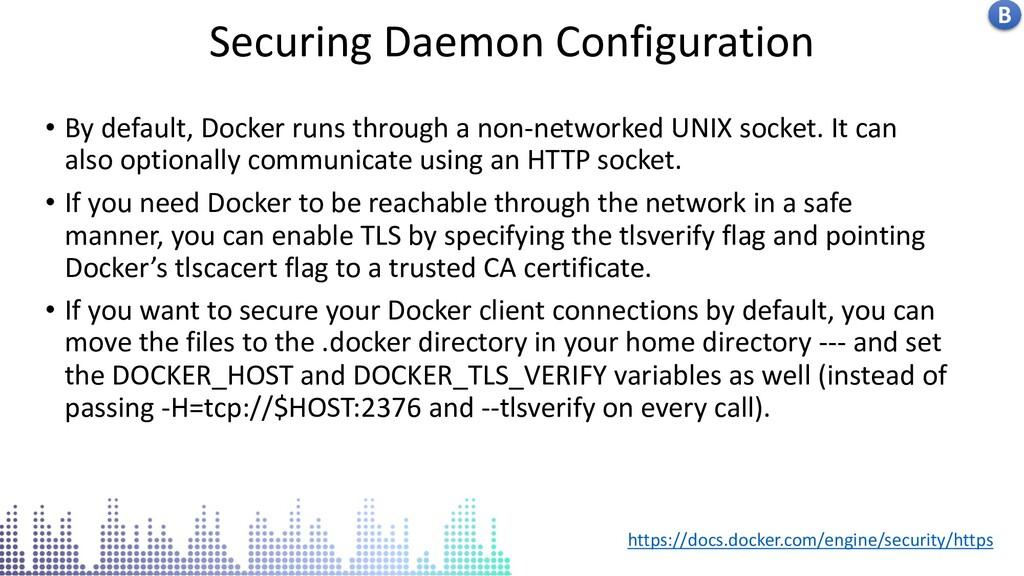 Insecure docker socket service Securing Daemon ...