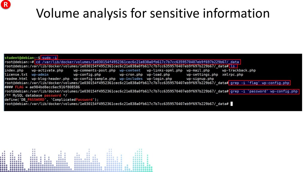 Volume analysis for sensitive information Volum...