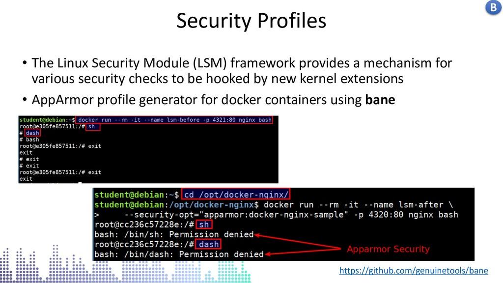 Insecure docker socket service Security Profile...