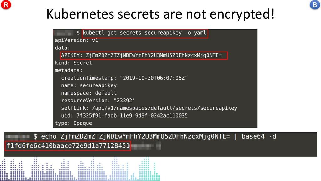 Kubernetes secrets are not encrypted! Kubernete...