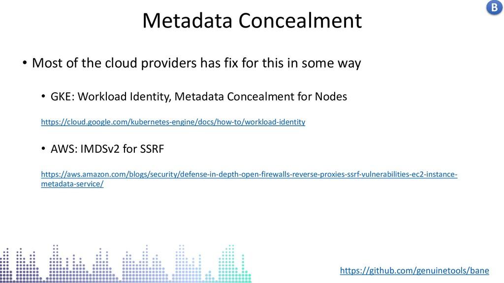 Insecure docker socket service Metadata Conceal...