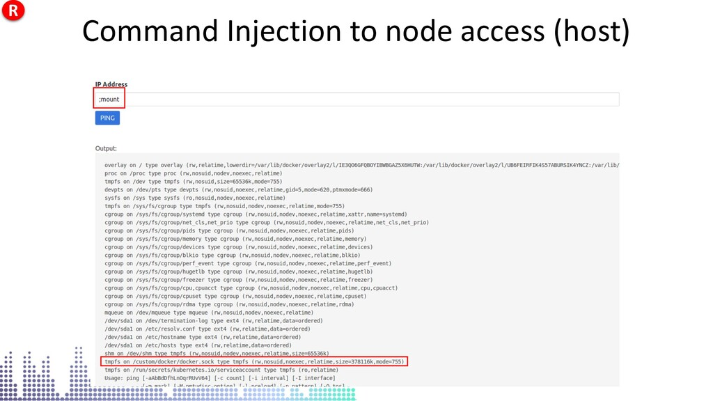 Command Injection to node access (host) Command...