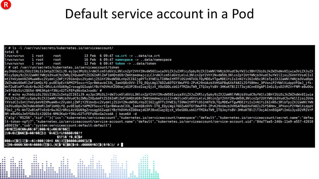 Default service account in a Pod Default servic...