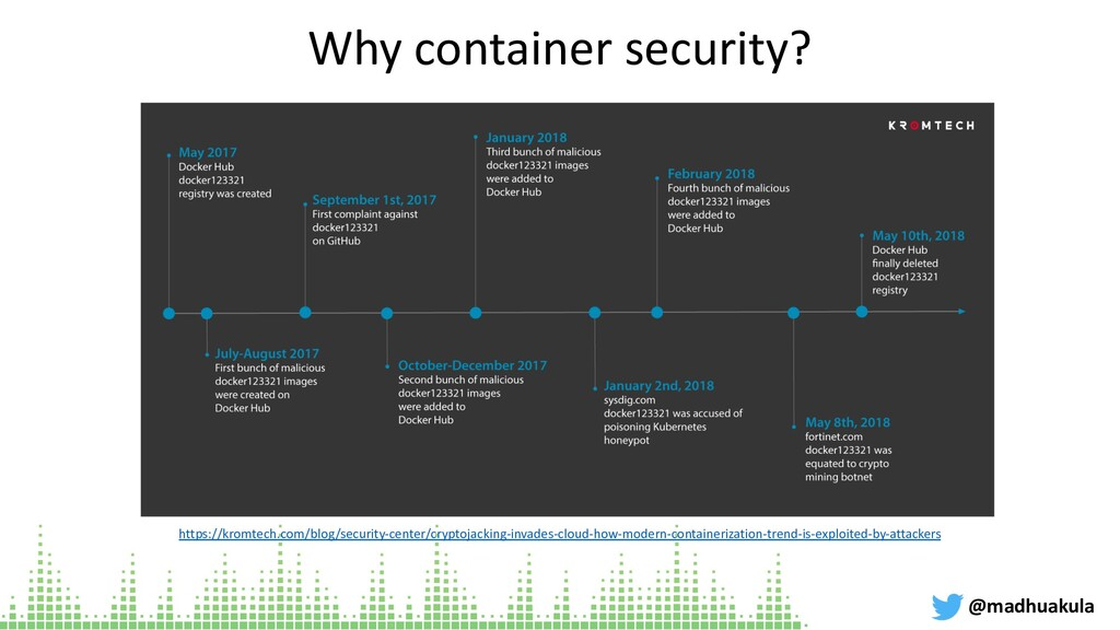 Why container security? @madhuakula https://kro...