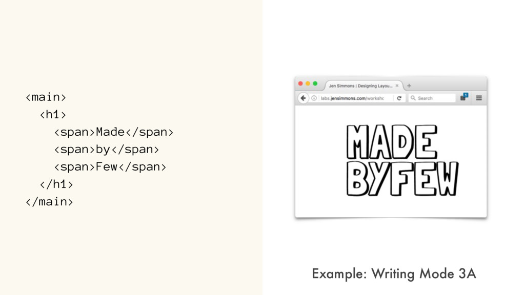 <main> <h1> <span>Made</span> <span>by</span> <...