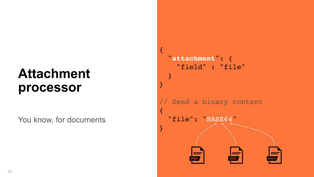 You know, for documents 24 Attachment processor...