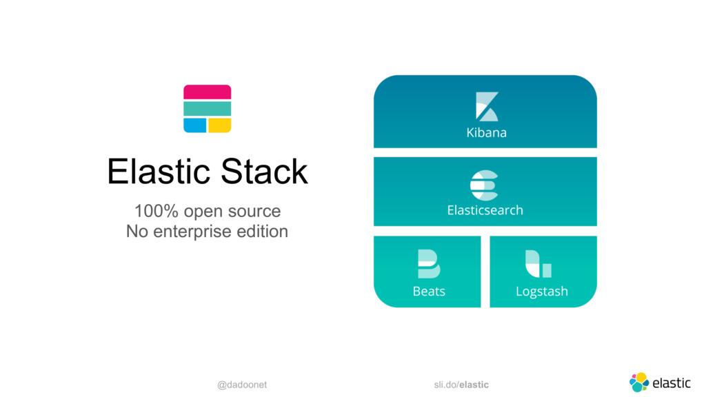 @dadoonet sli.do/elastic 5 Elastic Stack 100% o...