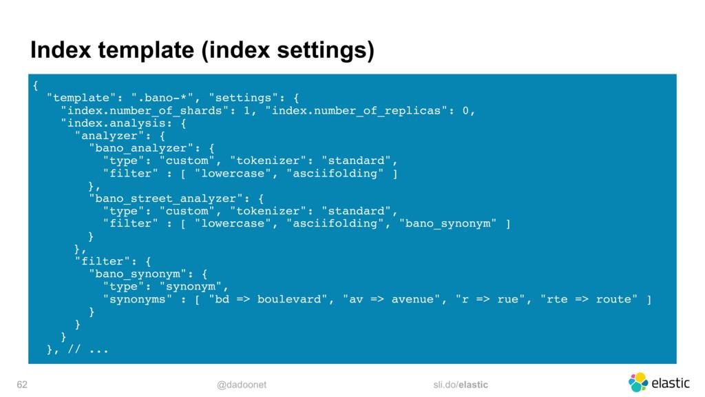 @dadoonet sli.do/elastic Index template (index ...