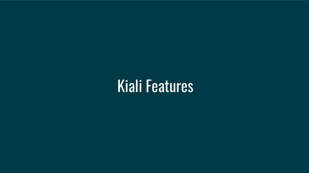 Kiali Features