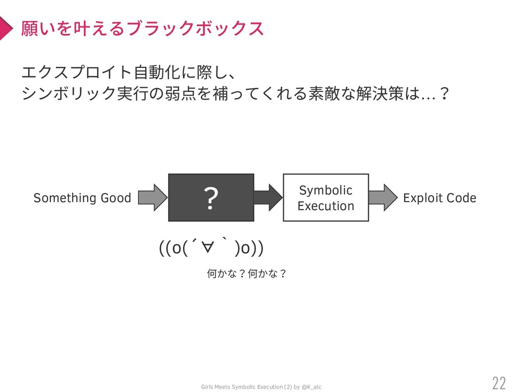 Girls Meets Symbolic Execution (2) by @K_atc エク...