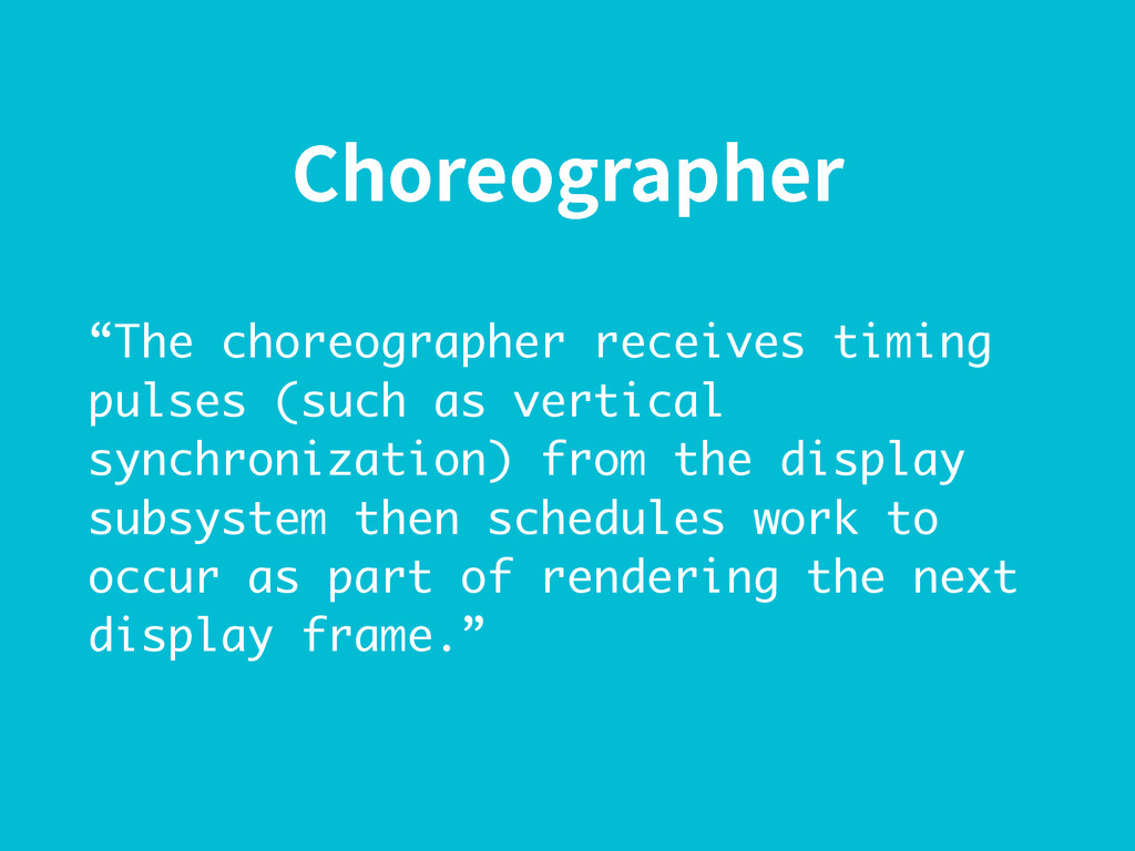 "$IPSFPHSBQIFS ""The choreographer receives timin..."
