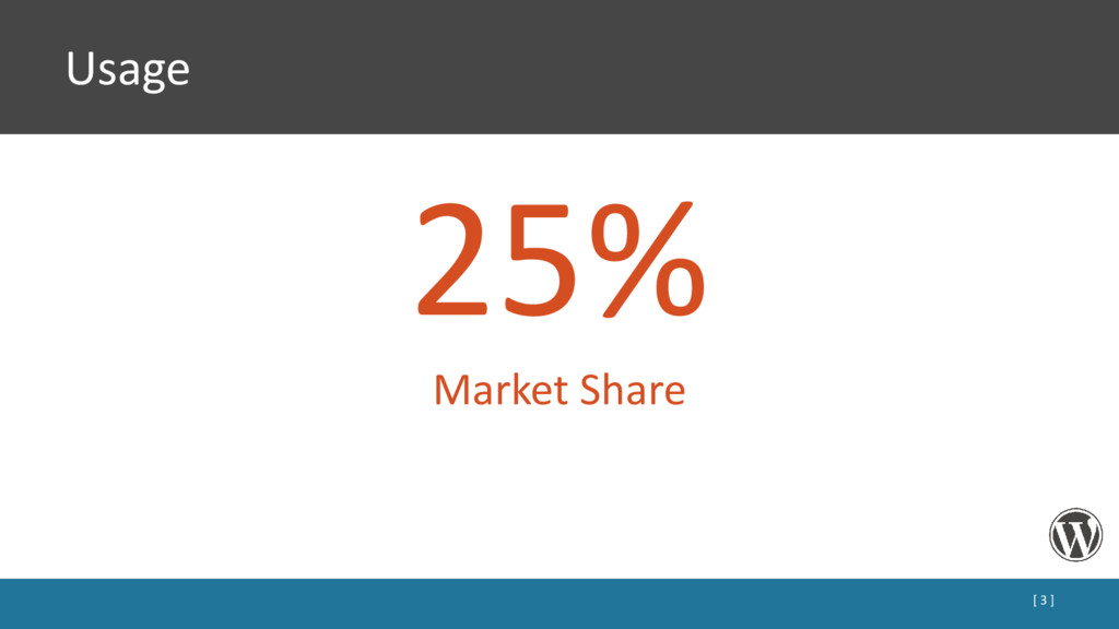 Usage 25% Market Share [ 3 ]